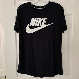 Nike Long Black Athletic T-shirt - Size M